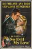 So Evil My Love Movie Poster (11 x 17) - Item # MOVIB13004