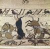 Bayeux Tapestry. 1066-1077. Scene Of The Battle Of Hastings. Detail. Romanesque Art. Decorative Arts; Tapestry. France. Bayeux. Archaeological Museum. ?? Aisa/Everett Collection Poster Print - Item # VAREVCFINA055AH043H