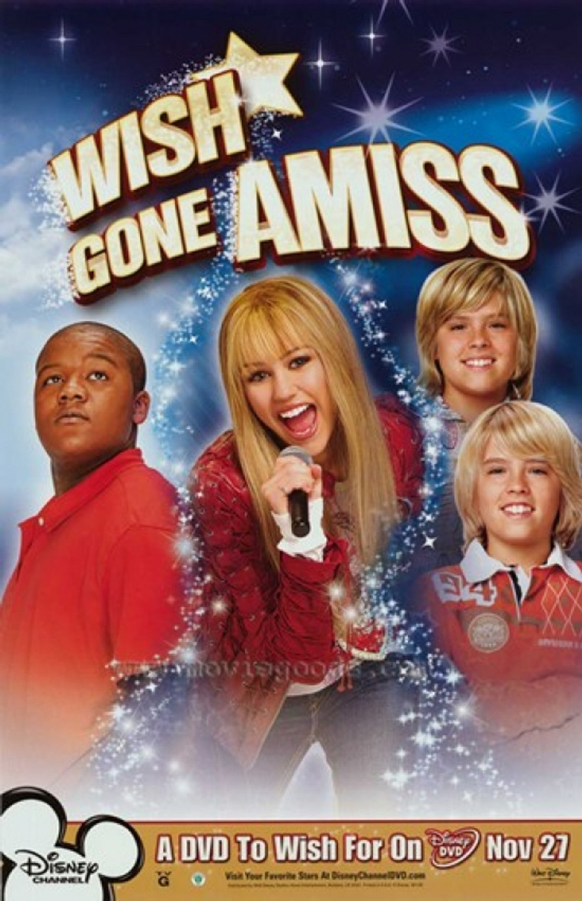 Hannah Montana Miley Cyrus Wish Gone Amiss Style D Movie Poster 11 X 17 Item Mov406313 Posterazzi