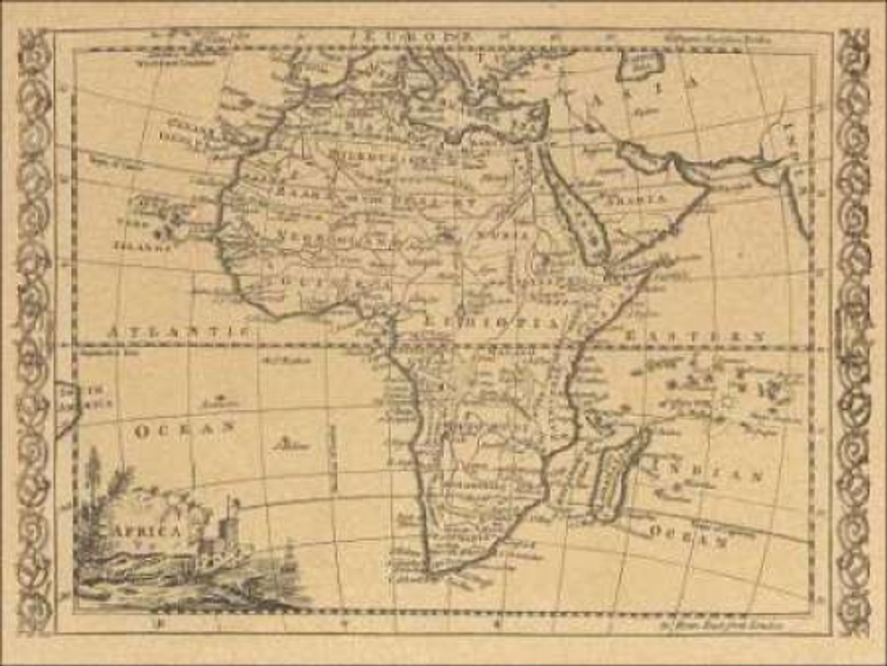 Map Of Africa 1800.Africa 1800 Poster Print By World Map Item Varpdxcc2721