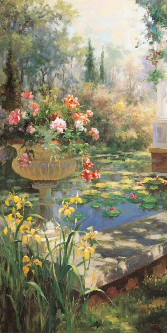 The Lily Garden Poster Print By Vail Oxley Item
