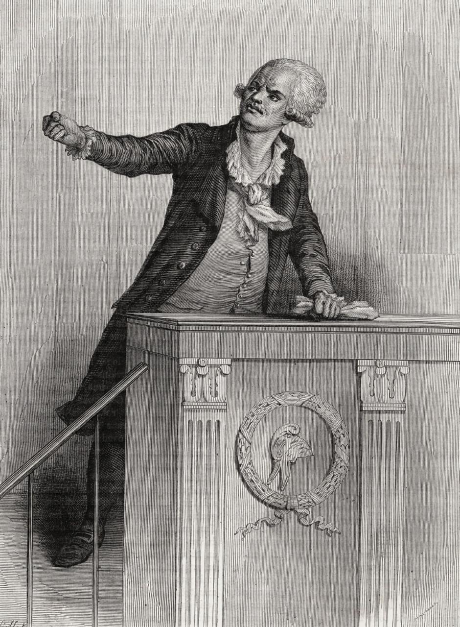 Georges Danton georges danton, 1759-1794. french revolutionary leader. engraved pannemaker after viollat. from histoire de la revolution francaiselouis  blanc.
