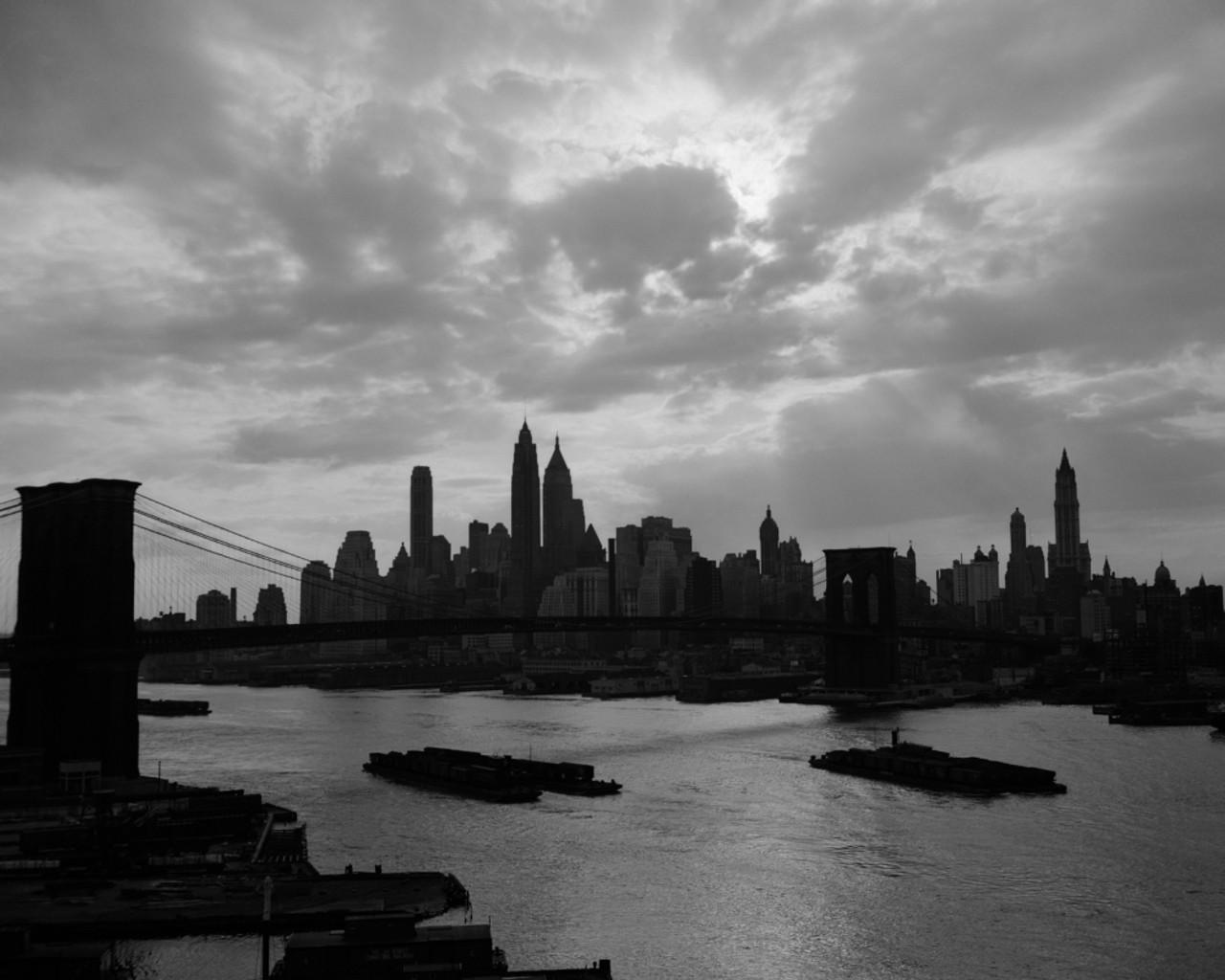 Brooklyn Bridge Black And White Background Wallpaper 23386 Baltana