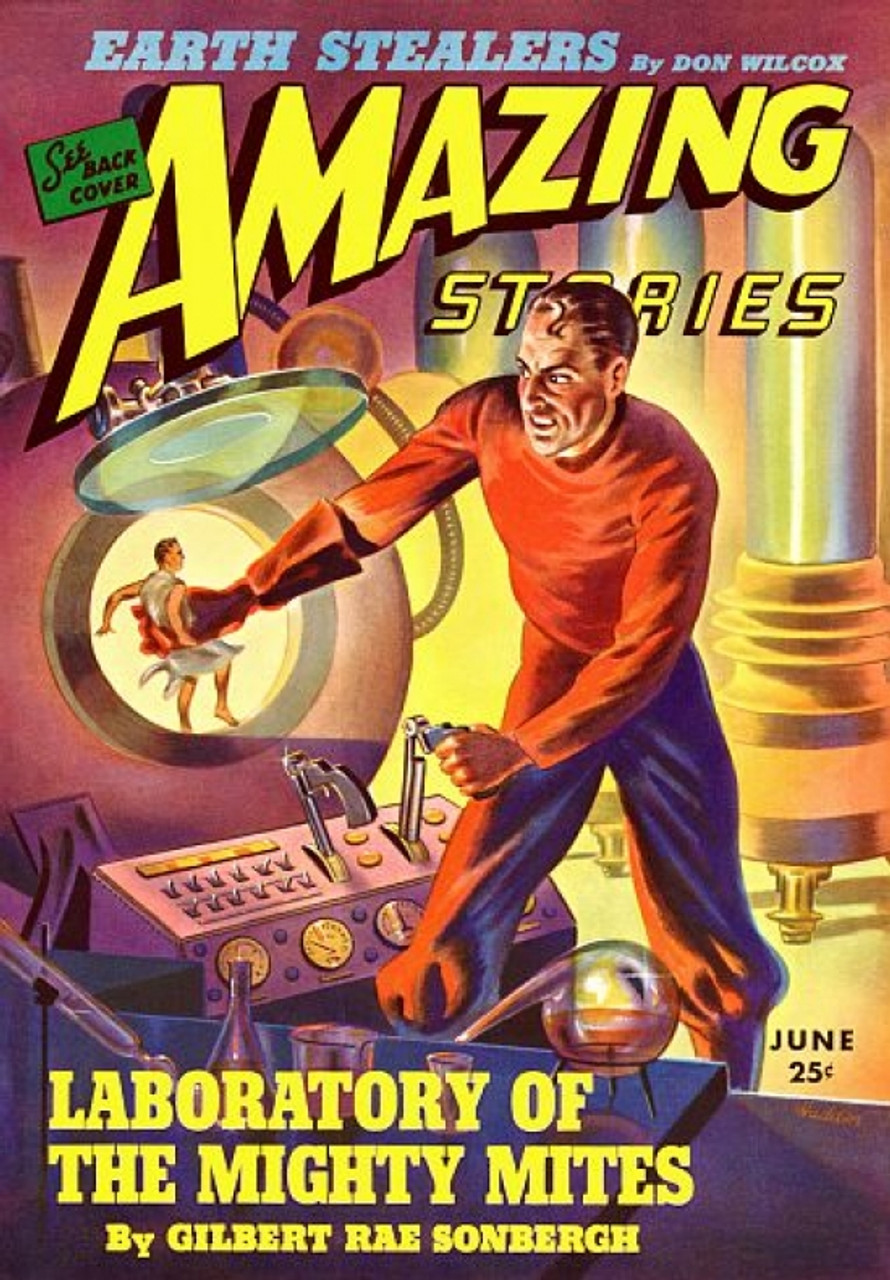 STARTLING STORIES when the earth lived COMIC BOOK COVER VINTAGE POSTER 24X36