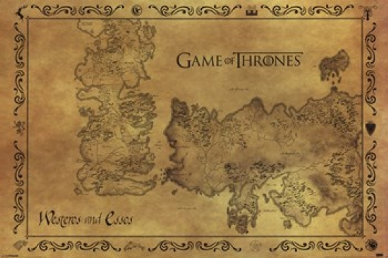 Game Of Tgrones Map on
