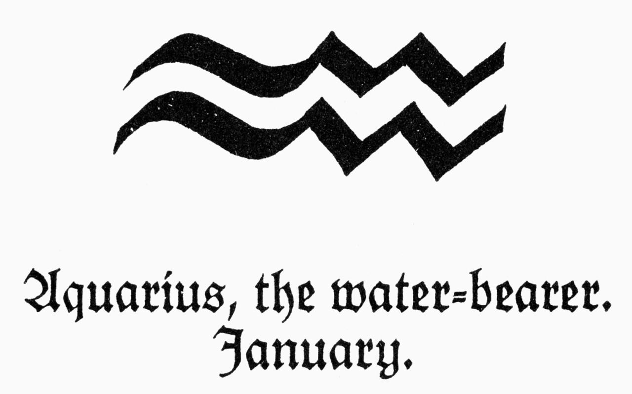 Zodiac Aquarius Nzodiacal Symbol For Aquarius The Water Bearer Poster Print By Granger Collection Item Vargrc0091215 Posterazzi