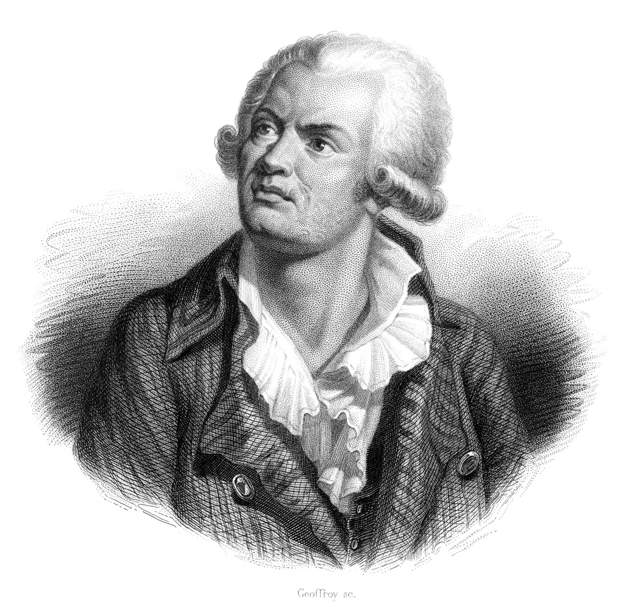 Georges Danton georges jacques danton /n(1759-1794). french revolutionary leader. line and  stipple engraving, french, 19th century. poster printgranger