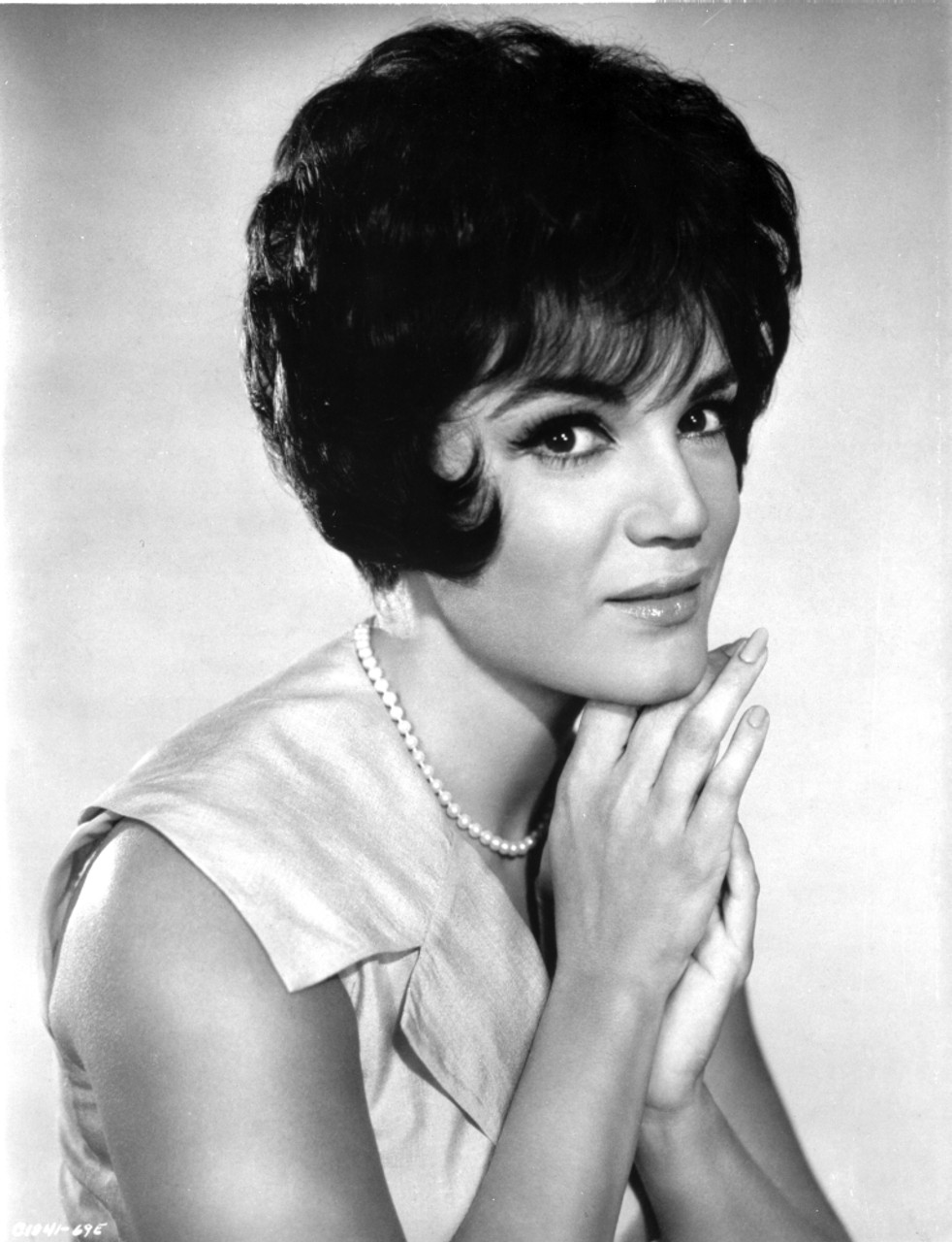 Connie Francis Posed in White ...