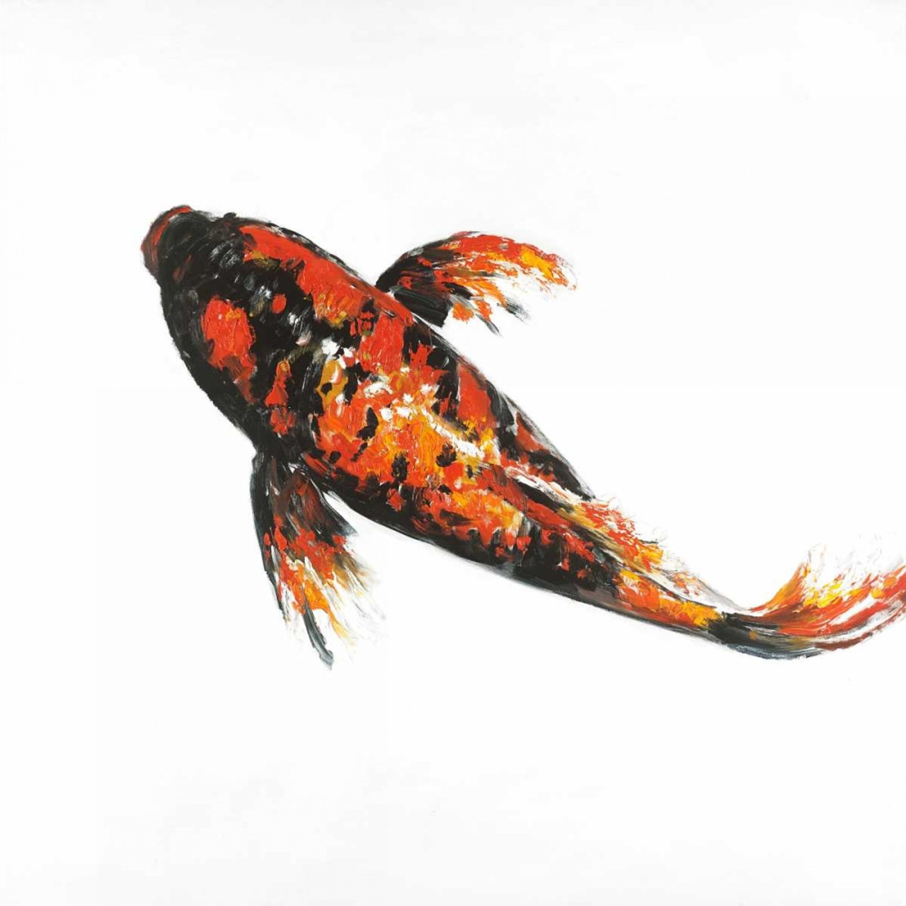 Red Butterfly Koi Fish Poster Print By Atelier B Art Studio Item Varpdxbegani304 Posterazzi