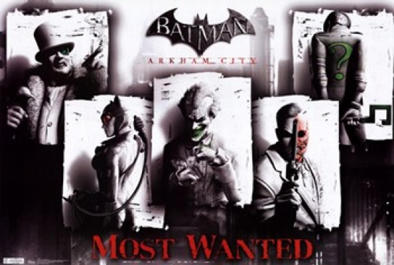 Framed Batman Arkham Origins Wanted Poster Ready To Hang Frame