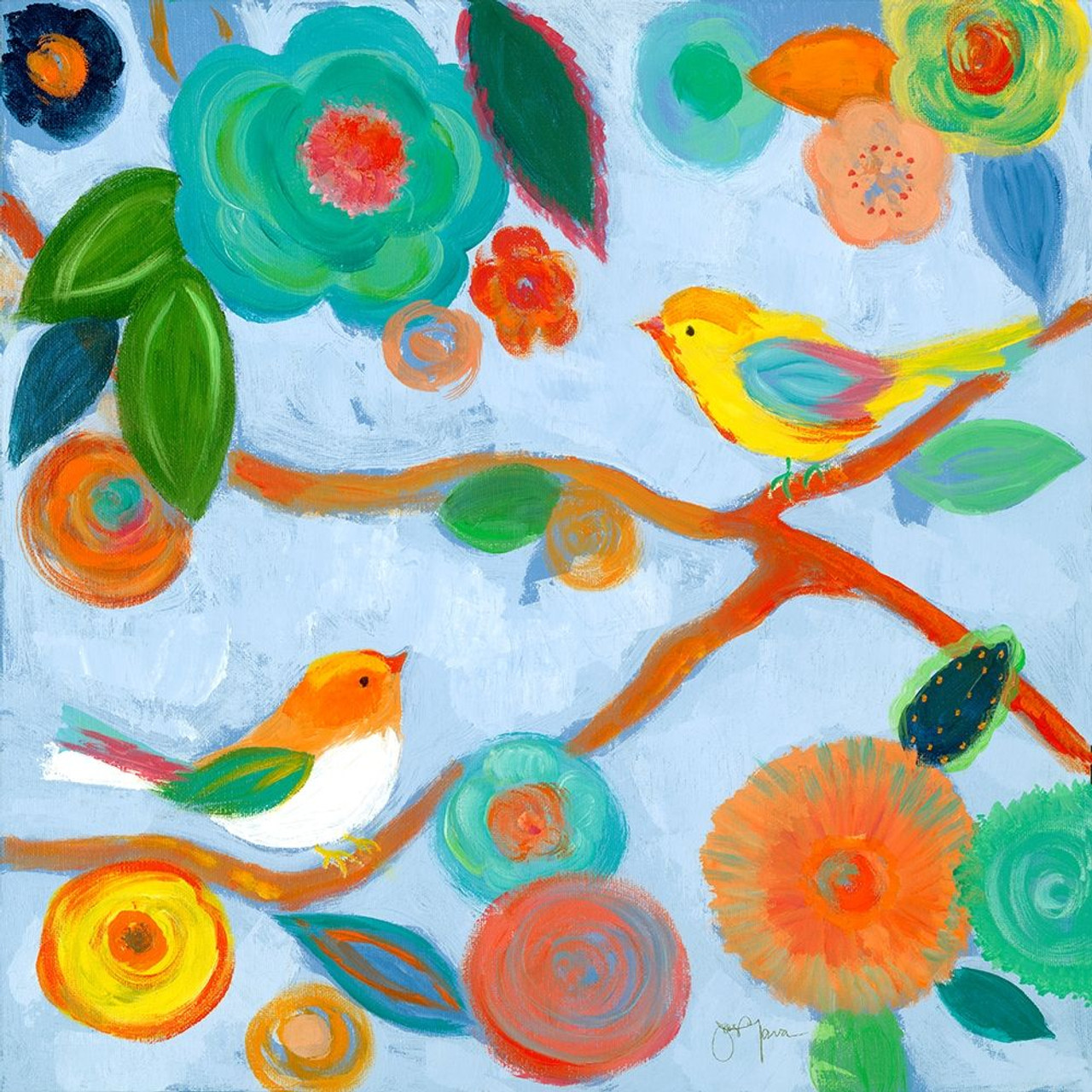Birds And Whimsy I Poster Print By Tava Studios Item Varpdx19268 Posterazzi
