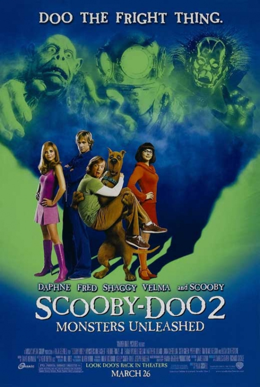 Scooby Doo 2 Monsters Unleashed Movie Poster 11 X 17 Item Movcb28124 Posterazzi