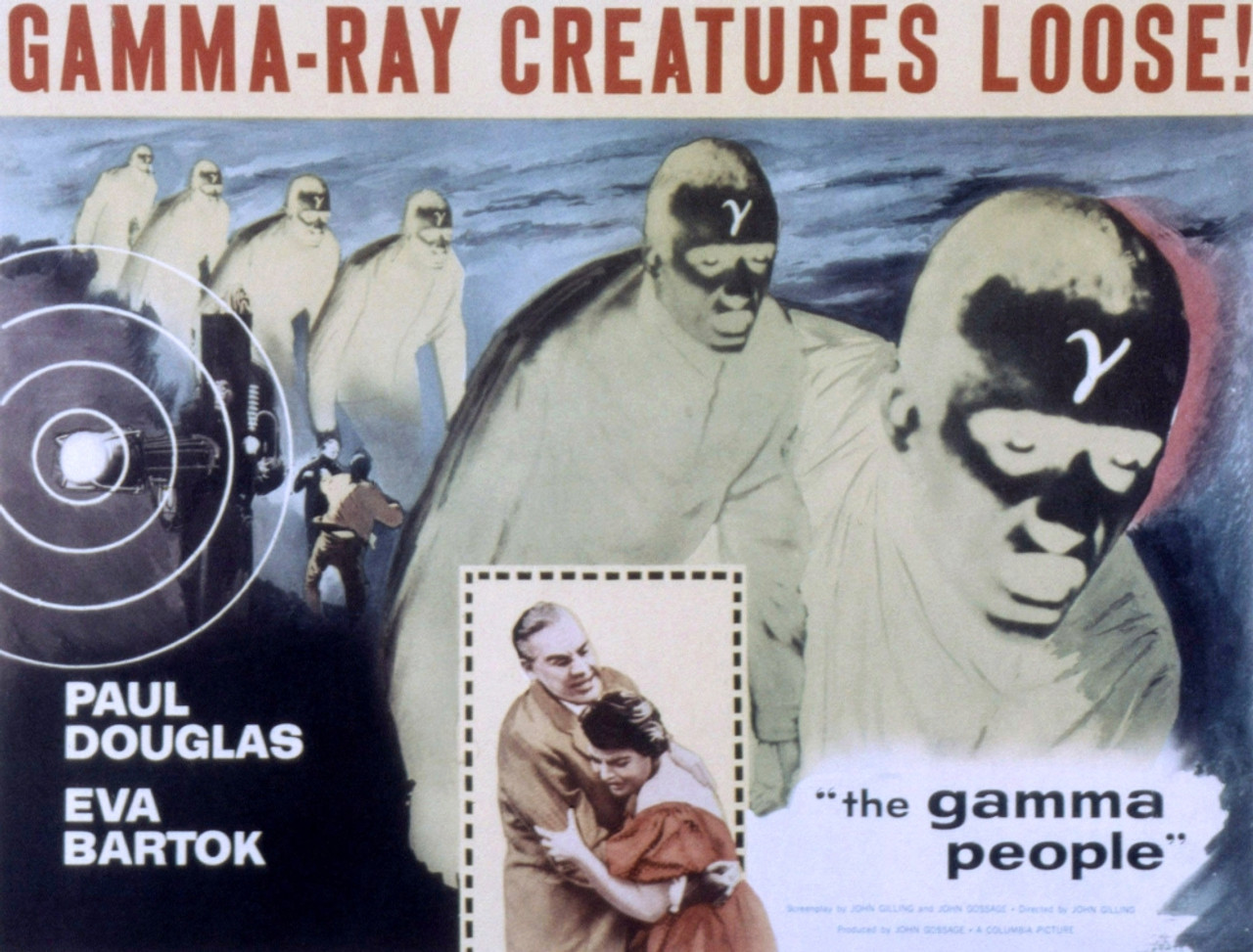 1956 Movie Poster The Gamma People