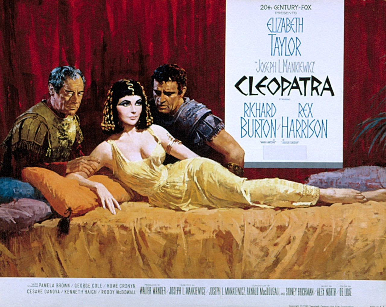 Cleopatra Rex Harrison Elizabeth Taylor Richard Burton 1963 Tm And ...