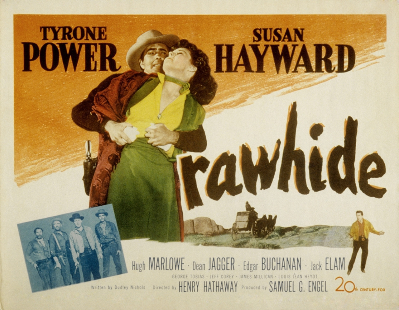 Rawhide Tyrone Power Susan Hayward 1951 Tm And Copyright20Th ...