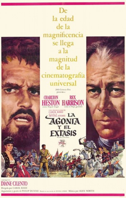 The Agony and the Ecstasy Movie Poster (11 x 17) - Item # MOV216170