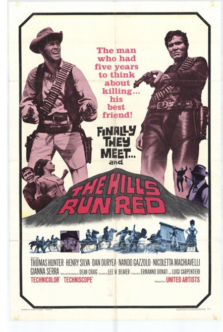 The Hills Run Red Movie Poster Print (27 x 40) - Item # MOVIH9263