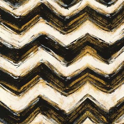 Black and Gold Geometric IV Crop Poster Print by  Shirley Novak - Item # VARPDX25030