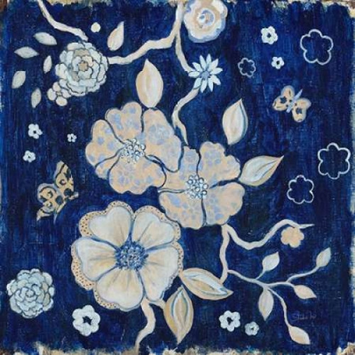Blue Chinoserie Garden1 Poster Print by  Studio M - Item # VARPDX574STU1020