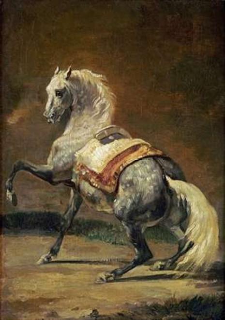 Dappled Grey Horse Poster Print by  Theodore Gericault - Item # VARPDX266377
