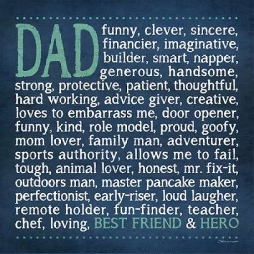 Dad Poster Print by  Stephanie Marrott - Item # VARPDXSM10194