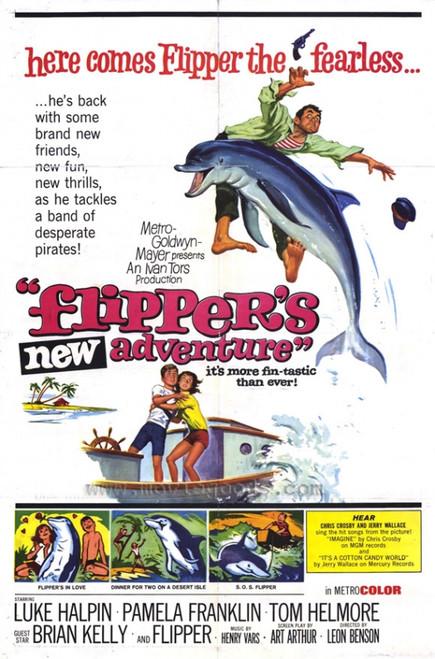 Flipper's New Adventure Movie Poster Print (27 x 40) - Item # MOVGF6405