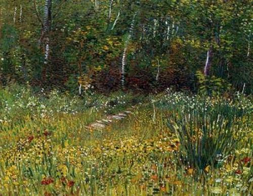 A Park In Spring 1887 Poster Print by  Vincent Van Gogh - Item # VARPDX374599