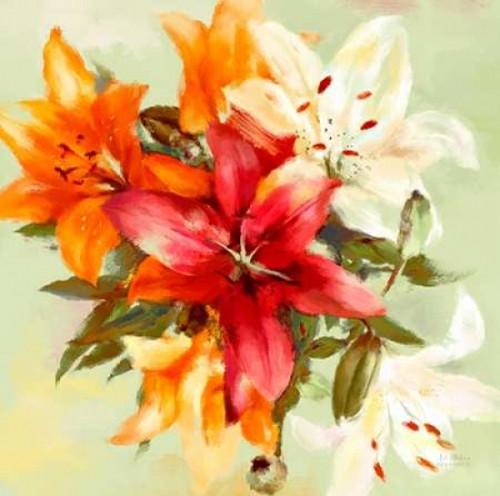 Bursting Lillies 2 Poster Print by  Art Atelier Alliance - Item # VARPDX923EWA1043