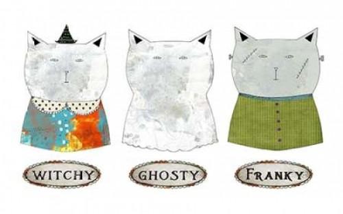 3 Halloween Cats Poster Print by Sarah Ogren - Item # VARPDXSO1188