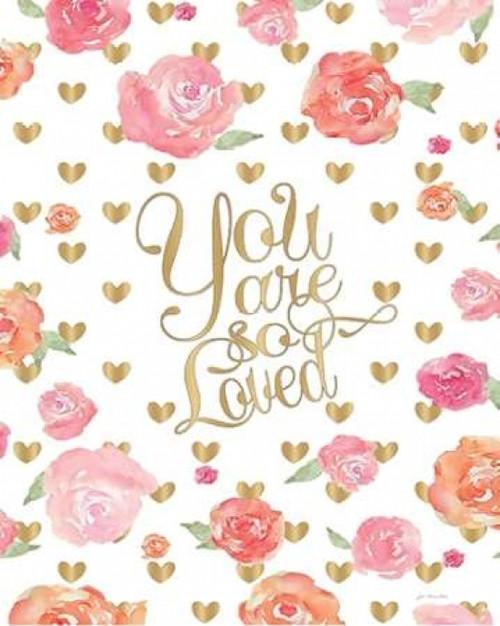 Love Floral Poster Print by Jo Moulton - Item # VARPDXJM12158
