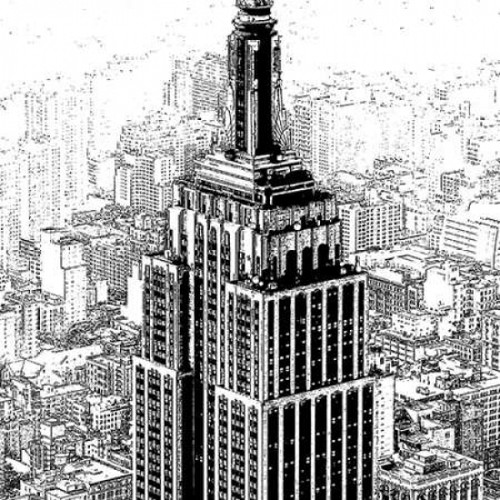 Empire State Sketch Poster Print by Shelley Lake - Item # VARPDX8547PP