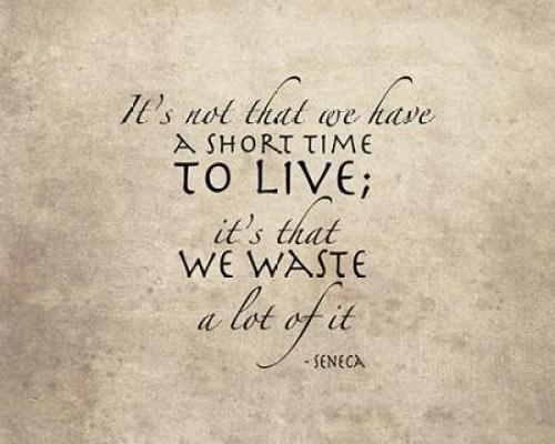 Seneca Time Quote Poster Print by  Tara Moss - Item # VARPDXTA1665