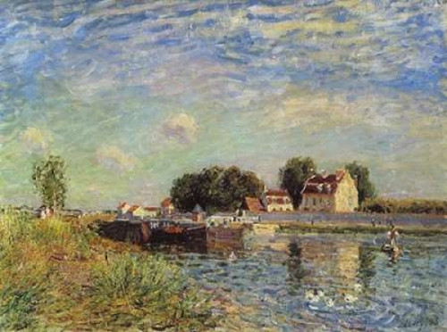 Le canal du Loing a Saint-Mammes Poster Print by  Alfred Sisley - Item # VARPDX374447