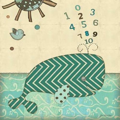 Number Whale Poster Print by Jo Moulton - Item # VARPDXJM9511