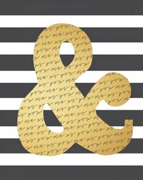 Faux Gold Ampersand Poster Print by Jo Moulton - Item # VARPDXJM11221