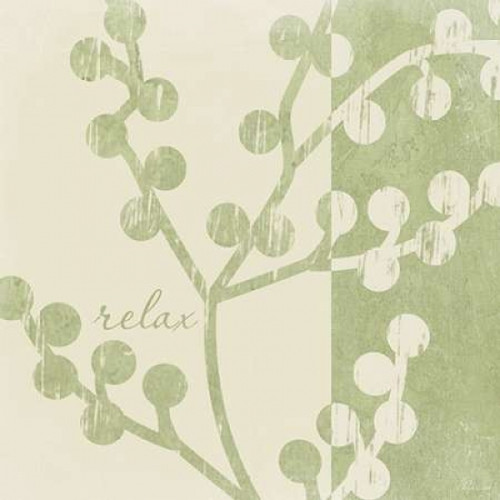 Green - Cream Relax Poster Print by Jennifer Pugh - Item # VARPDXJP1668