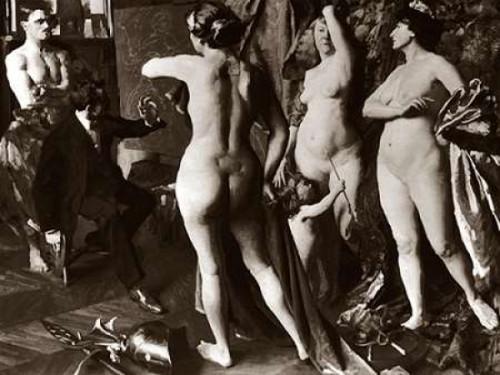 In the Painters Studio Poster Print by Vintage Nudes - Item # VARPDX379402
