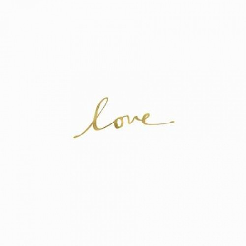 Love in Gold Poster Print by  Linda Woods - Item # VARPDXLW3146