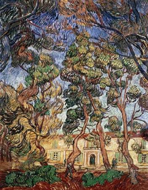 Trees in the Garden of Saint-Paul Hospital Poster Print by  Vincent Van Gogh - Item # VARPDX281321