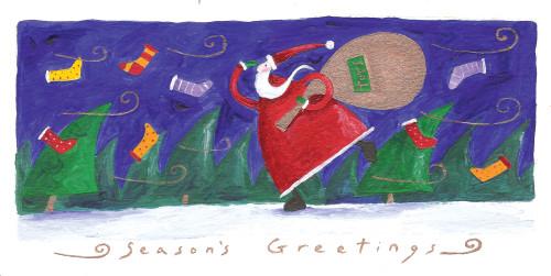 Santa Season'S Greetings Poster Print by Peter Adderley - Item # VARMGL600839