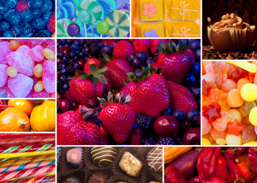 collage_ediblescolor_layout Poster Print by Alixandra Mullins - Item # VARMGL601108
