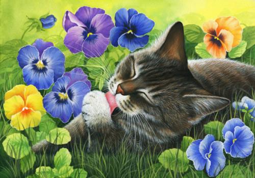 Spring Viola Poster Print by Irina Garmaschova-Cawton - Item # VARMGL601642