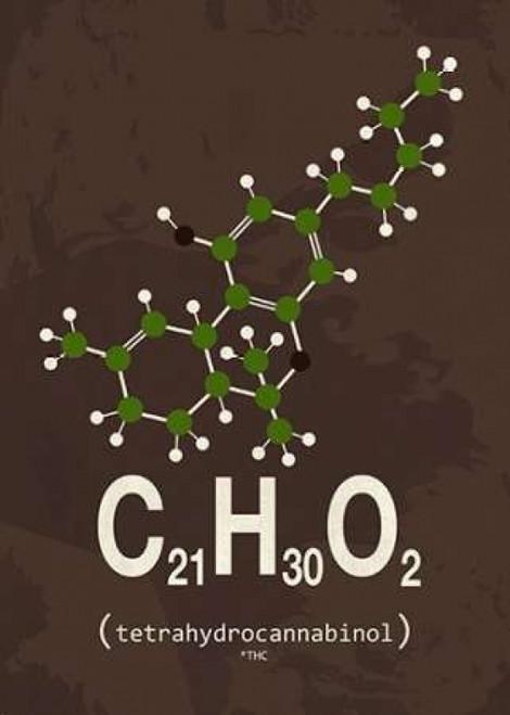 Molecule THC Poster Print by TypeLike - Item # VARPDXIN3189320