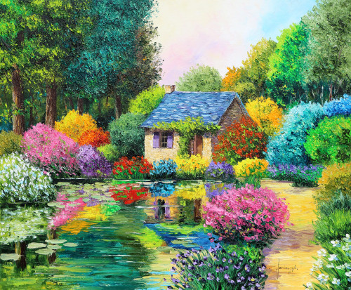 Little house in the wood Poster Print by Jean-Marc Janiaczyk - Item # VARMGL601023