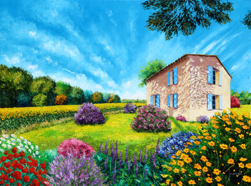 Flowered Garden Poster Print by Jean-Marc Janiaczyk - Item # VARMGL601151