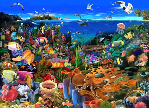 Amazing Coral Reef Poster Print by Gerald Newton - Item # VARMGL601453