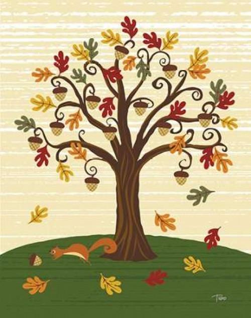 Grand Tree and Squirrel Poster Print by Teresa Woo - Item # VARPDXWOO157