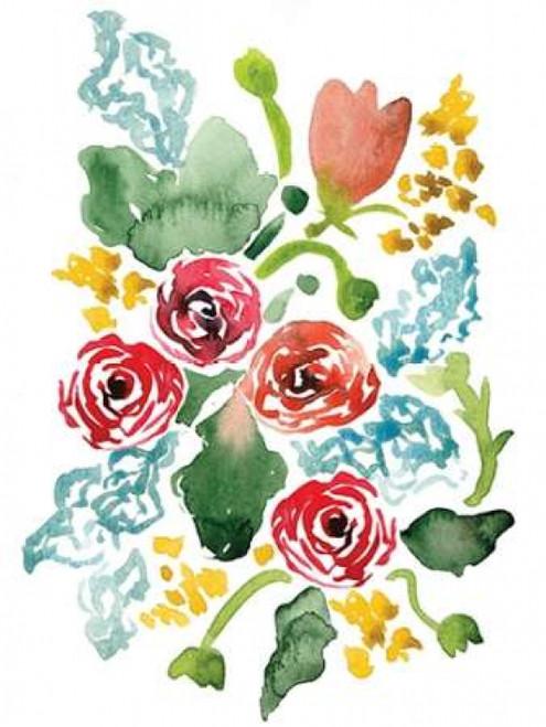 Red Floral Array II Poster Print by Sara Berrenson - Item # VARPDXBER149
