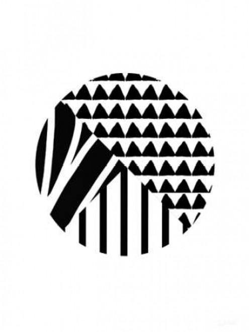 Black and White Pattern Ball Poster Print by Linda Woods - Item # VARPDXLW3159