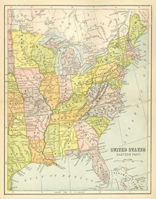 US Map East Poster Print by Gwendolyn Babbitt - Item # VARPDXBAB207